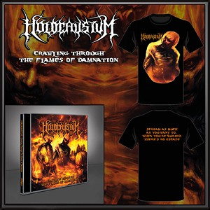 "Holocaustum ""Crawling Through The Flames of Damnation"" CD, TSHIRT, POSTER, STICKER BUNDLE"