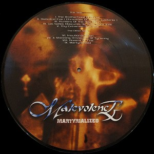 "Malevolence ""Martyrialized"" 12"" PICTURE DISC LP"